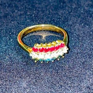 Red, White & Blue w/ Gold Ring (8)